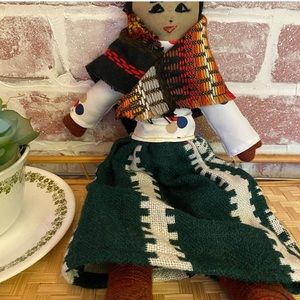 Adorable hand loomed Peru doll